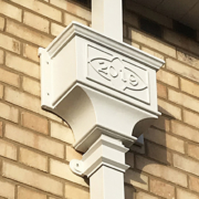 Bespoke hopper and Georgian Square Cast downpipes for victorian cottage