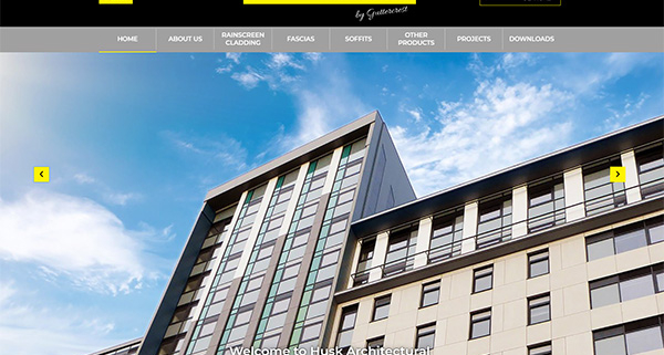 Husk architectural website lauch