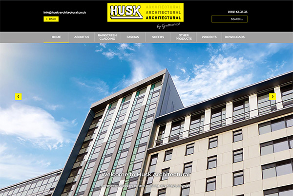 Husk architectural website lauch