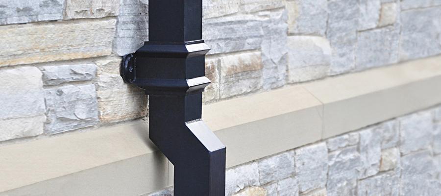 aluminium georgian square cast downpipes