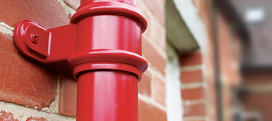 traditional round cast downpipes