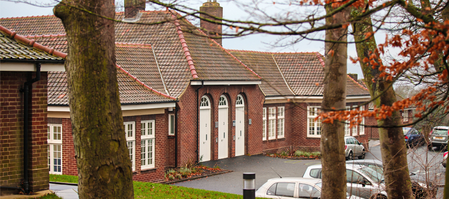 aluminium half gutters and traditional cast round downpipes, gateshead