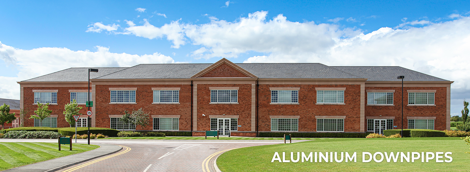 Aluminium Downpipes for Tewkesbury Care Home