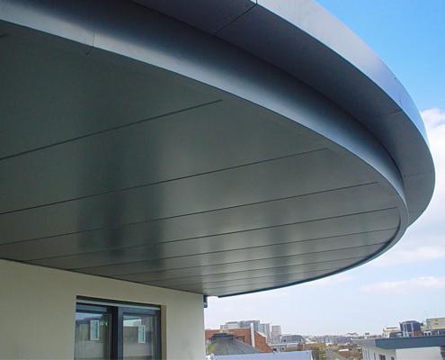 guttercrest aluminium arrowhead soffits and cladding panels grey