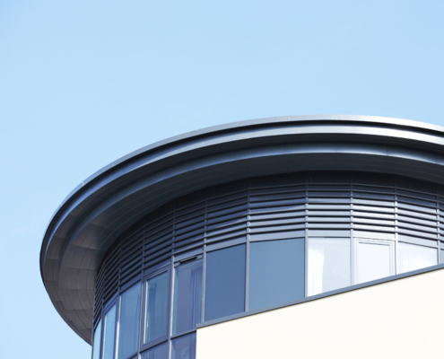 guttercrest aluminium arrowhead soffits and cladding panels