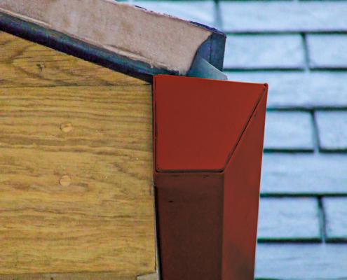 guttercrest aluminium raked box gutter in red