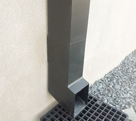 guttercrest aluminium square and rectangular smoothline flush fit downpipes and shoe