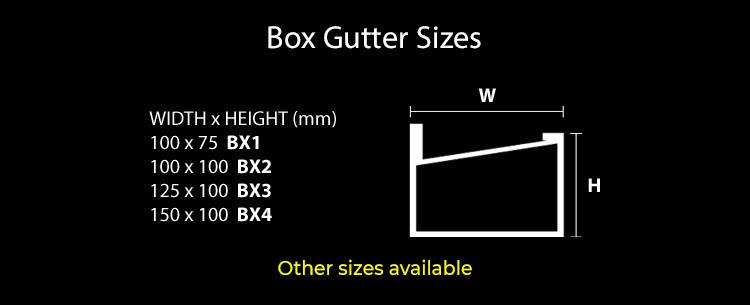 guttercrest box gutter sizes small aluminium