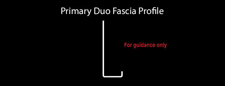 primary duo fascia profile aluminium