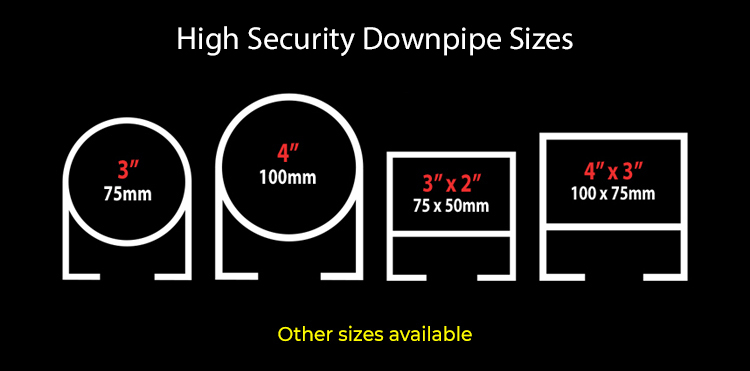 guttercrest high security downpipe sizes aluminium