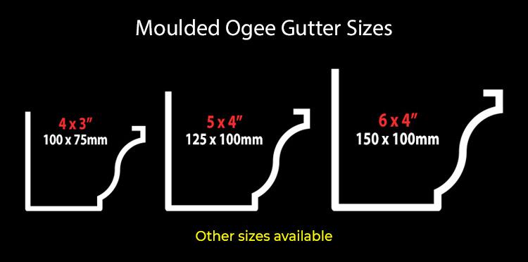 guttercrest moulded ogee gutter system sizes aluminium