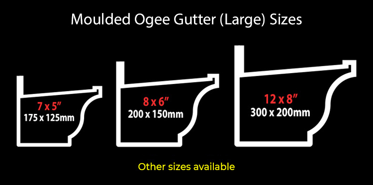 guttercrest moulded ogee gutter system type 46 large sizes aluminium