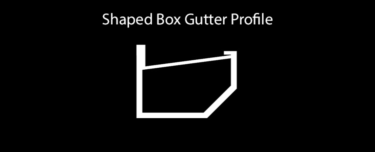 guttercrest shaped box gutter system profile aluminium