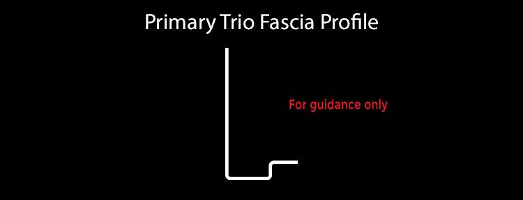 guttercrest fascia primary trio aluminium