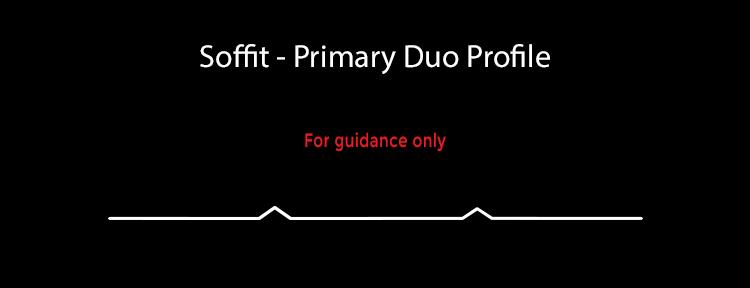 guttercrest soffit cladding primary duo profile aluminium