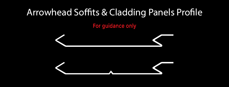 guttercrest arrowhead soffits and cladding panels profile aluminium