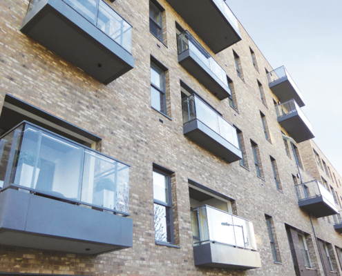 Aluminium cills, fascia, soffits, copings and rainwater goods fitted to award winning development