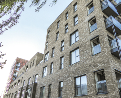 Aluminium grey cills fitted to regeneration project