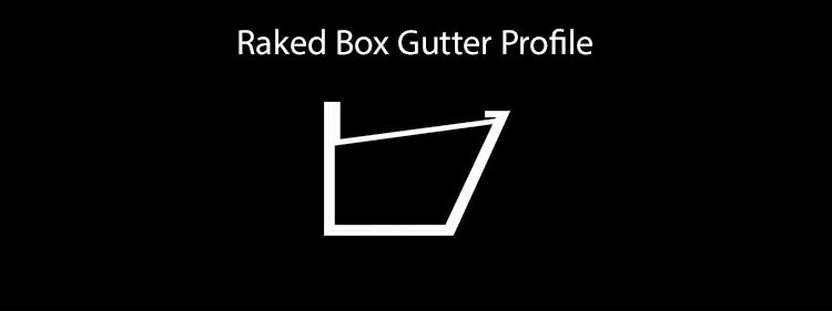 guttercrest raked box gutter sytem profile aluminium