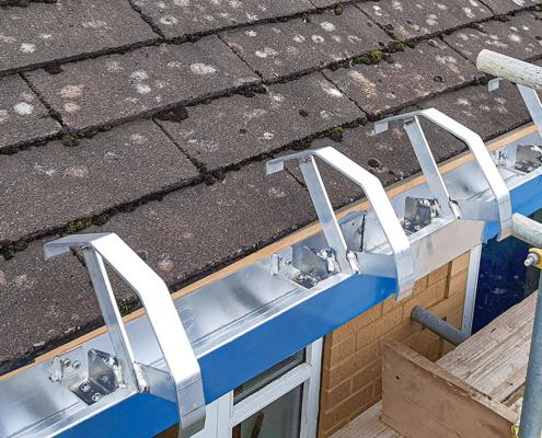 aluminium anti climb bullnose fascia fixing brackets
